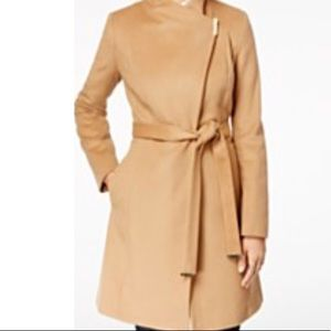 Michael Kors wool blend belted walker coat
